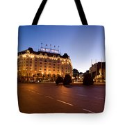 Plaza De Neptuno And Palace Hotel Tote Bag