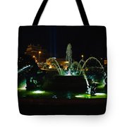 Plaza Fountain Tote Bag