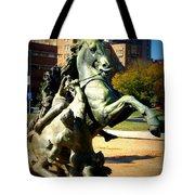 Plaza Horse Tote Bag