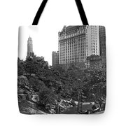 Plaza Hotel From Central Park Tote Bag