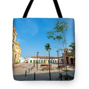 Plaza In Mompox Tote Bag