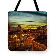 Plaza Lights At Sunset Tote Bag