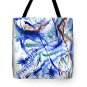 Plume Bleues Tote Bag