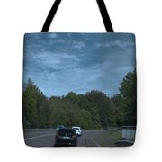 Pleasure Drive Paris Roads Tree Line And Wonderful Skyview Tote Bag