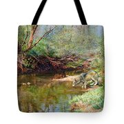 Pleasure Of  The Enchanted Wolf Tote Bag
