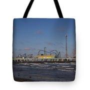 Pleasure Pier At Sunset Tote Bag