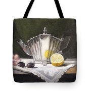 Pleated Teapot With Lemon Tote Bag