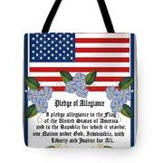 Pledge Of Allegiance Tote Bag by Anne Norskog