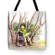 Plein Air Artist At Work Tote Bag by Irina Sztukowski