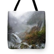 Plitvice Lakes In Winter 4 Tote Bag