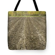 Plowed Spring Farmland Ready For Planting In Maine Tote Bag
