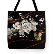 Plum Blossoms And Anna's Hummingbird Tote Bag