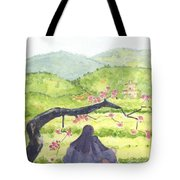 Plumb Blossom Love Tote Bag by Lilibeth Andre