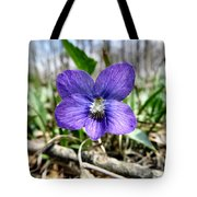 Plumb Wildflowers Tote Bag