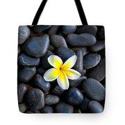 Plumeria Pebbles Tote Bag
