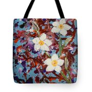 Plumeria Splash Tote Bag