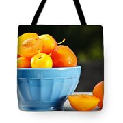 Plums In Bowl Tote Bag