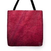 Plush Red Texture Tote Bag