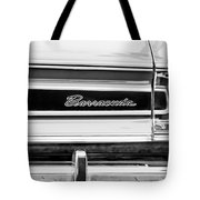 Plymouth Barracuda Taillight Emblem -0711bw Tote Bag