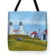 Plymouth Light Station Before 1924 Tote Bag