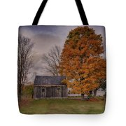 Plymouth Notch Barn In The Fall Tote Bag