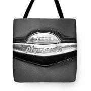Plymouth Trunk Emblem Tote Bag