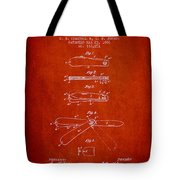 Pocket Knife Patent Drawing From 1886 - Red Tote Bag