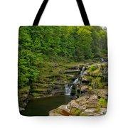 Poconos Ledges Waterfall Tote Bag