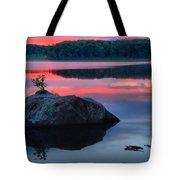 Poconos Lake Whitney Sunset Silhouette Tote Bag