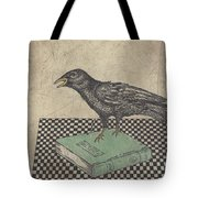 Poe And The Crow Tote Bag