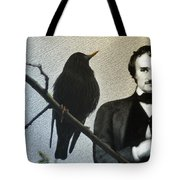 Poe And The Raven Tote Bag