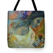 Poem At Twilight Tote Bag by Dorina  Costras