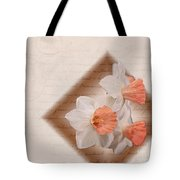 Poem Of Peach Daffodils Tote Bag