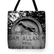 Poe's Original Burial Place Tote Bag