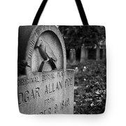 Poe's Original Grave Tote Bag by Jennifer Ancker
