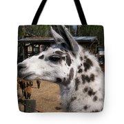 Polka Dot Llama Pogo Rules Tote Bag