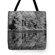 Poinsett State Park In Black And White Tote Bag