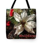 Poinsetta Christmas Card Tote Bag