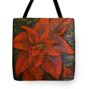 Poinsettia/ Christmass Flower Tote Bag by Elena  Constantinescu