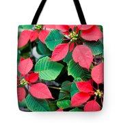 Poinsettia Flowers Tote Bag