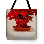 Poinsettia On A Pedestal No 1 Tote Bag