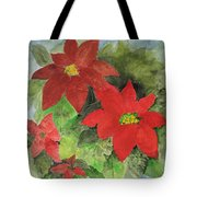 Poinsettias Holiday Card Tote Bag