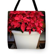 Poinsettias In A Planter Tote Bag