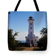 Point Abino Lighthouse Path Tote Bag