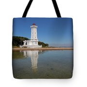 Point Abino Lighthouse Reflection Tote Bag