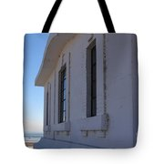 Point Abino Lighthouse Windows Tote Bag