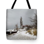Point Betsie In Winter Tote Bag