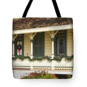 Point Fermin Lighthouse Christmas Porch Tote Bag