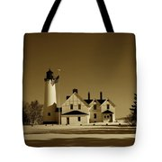 Point Iroquois Light Station Tote Bag