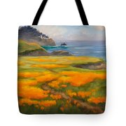 Point Lobos Poppies Tote Bag
